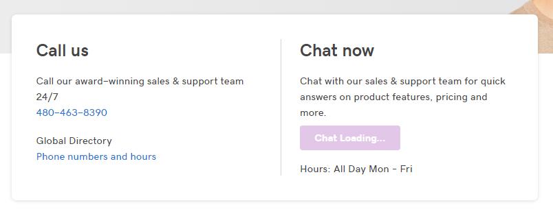 Godaddy WordPress Hosting chat