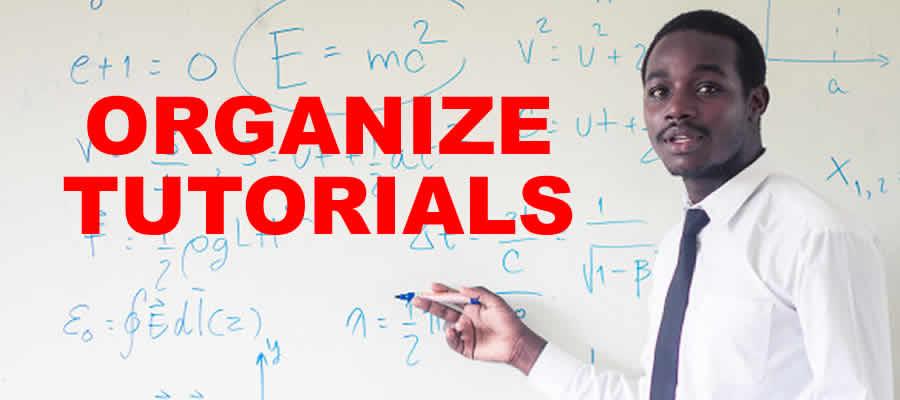 organize tutorials